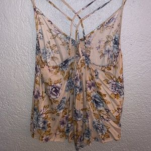 Floral American Eagle Outfitters Tank Top